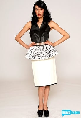 Kenley's ho hum creation; but I like the mini circle skirt.