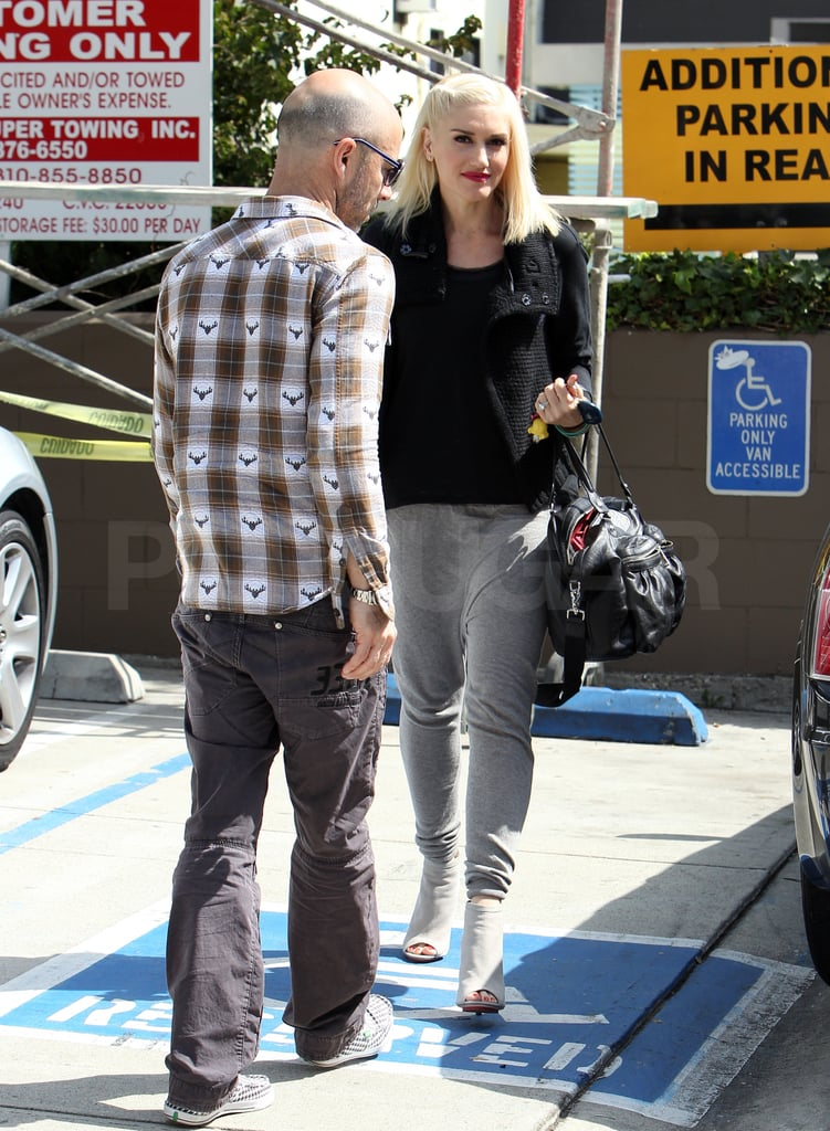 Gwen Stefani Polishes Up Her Red Lips For a Trip to the Salon