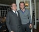 David O. Russell mingled with Bradley Cooper at a pre-Oscars party in LA on Wednesday night.