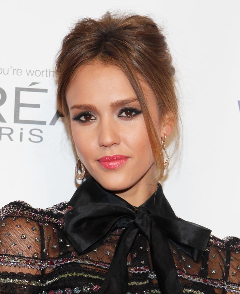 Jessica Alba posed at the Self magazine Women Doing Good Awards in NYC.