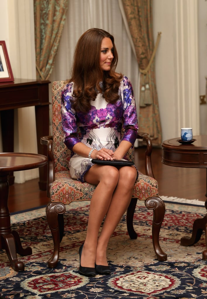 Kate Middleton arrived in Singapore looking lovely.