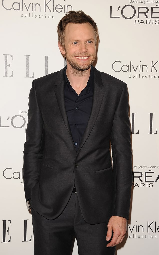 Joel McHale was the MC at Elle's Women in Hollywood Tribute.