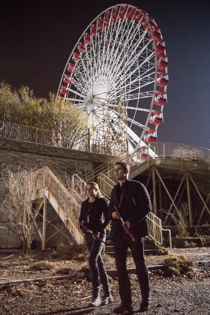 The Ferris wheel scene is one of the most memorable in the book, and also where Tris and Four become close for the first time.