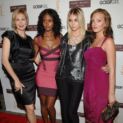 Kelly Rutherford, Nicole Fiscella,Taylor Momsen and Leighton Meester at the Gossip Girl Party