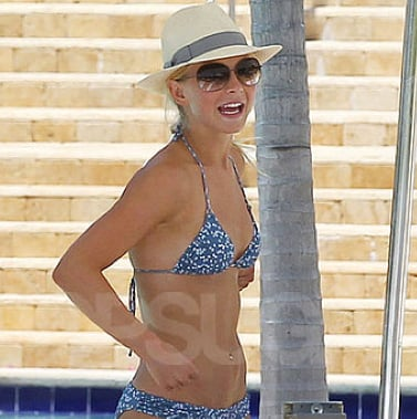 Julianne Hough in a Bikini and With Her Puppies