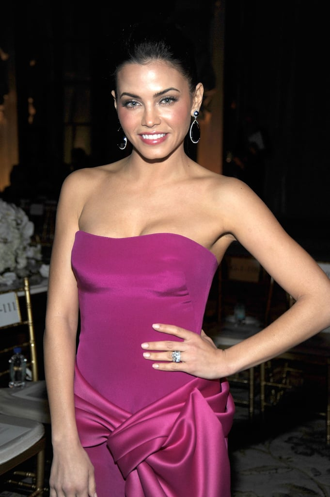 Jenna Dewan was ready to sit in the front row at Marchesa.