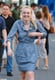Dakota Fanning laughed on the set of Very Good Girls in NYC.