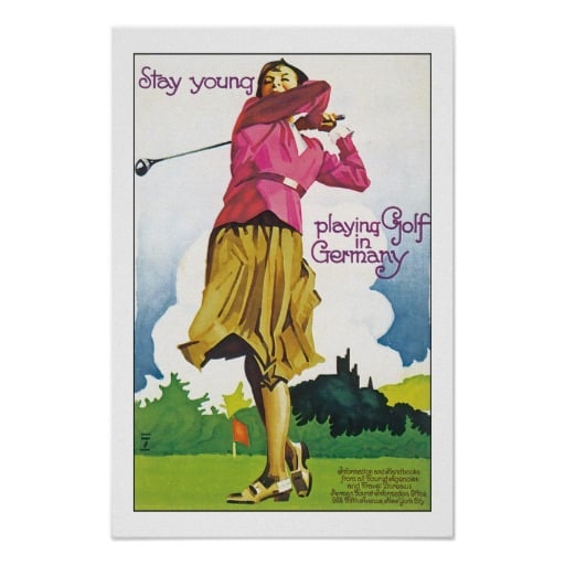 Play golf to stay young.