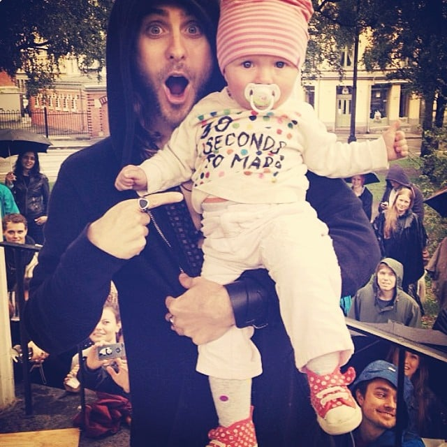 Jared Leto was excited to hold this baby. Source: Instagram user jaredleto