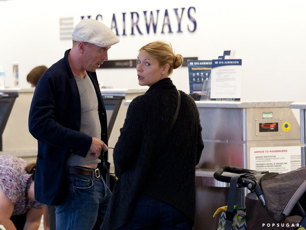 Claire Danes met up with her costar, Damian Lewis, at LAX.