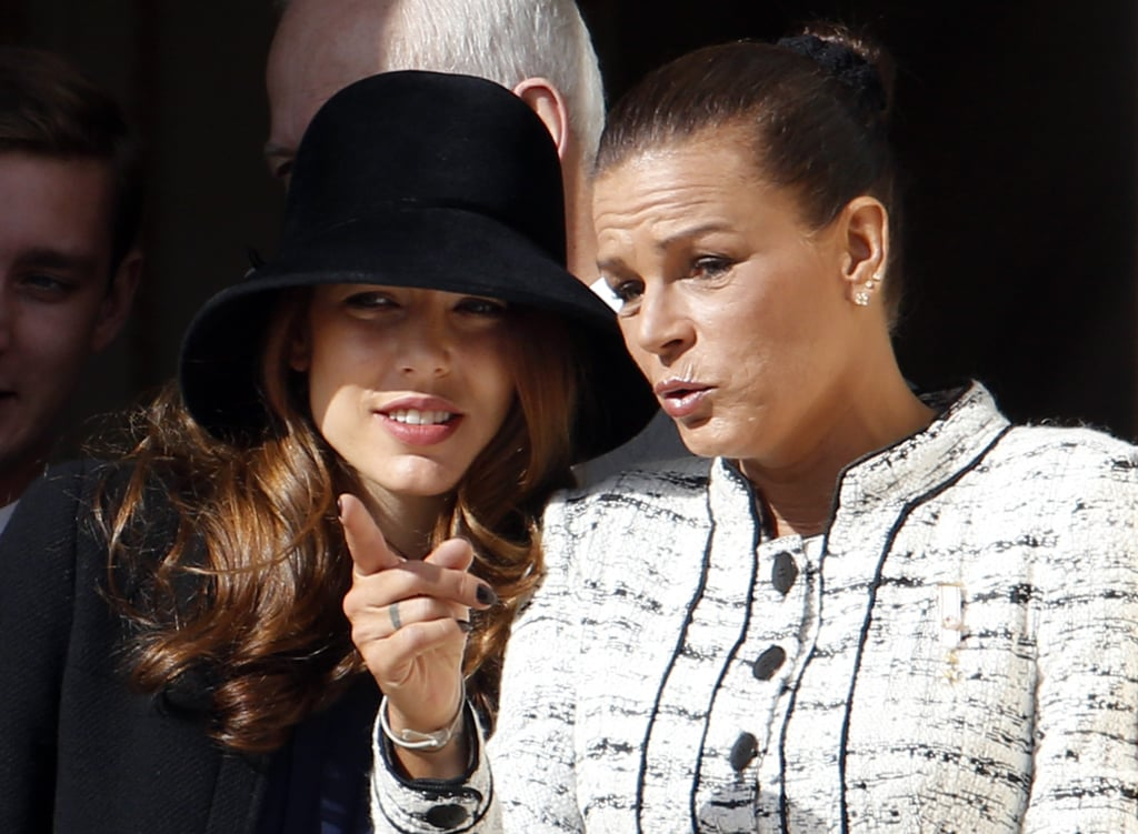 Charlotte and her aunt Princess Stephanie of Monaco spoke on the balcony of the Monaco Palace during the celebrations marking Monaco's National Day in 2013.