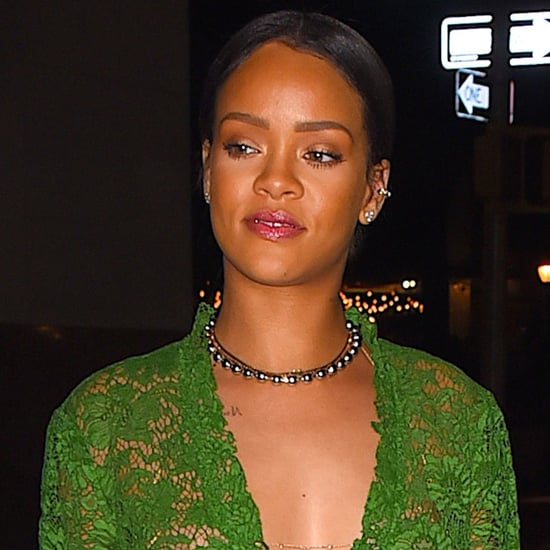 Rihanna in See-Through Green Dress in NYC May 2016