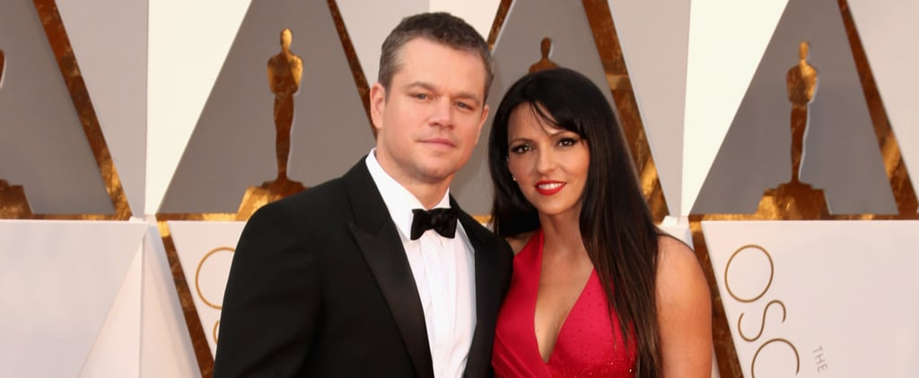 You Could Almost Feel the Heat Between Matt Damon and Luciana Barroso at the Oscars