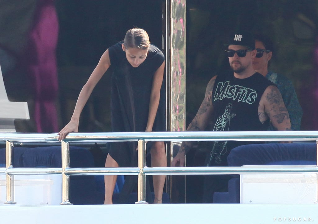 Nicole Richie and Joel Madden spent time on a yacht in Italy.
