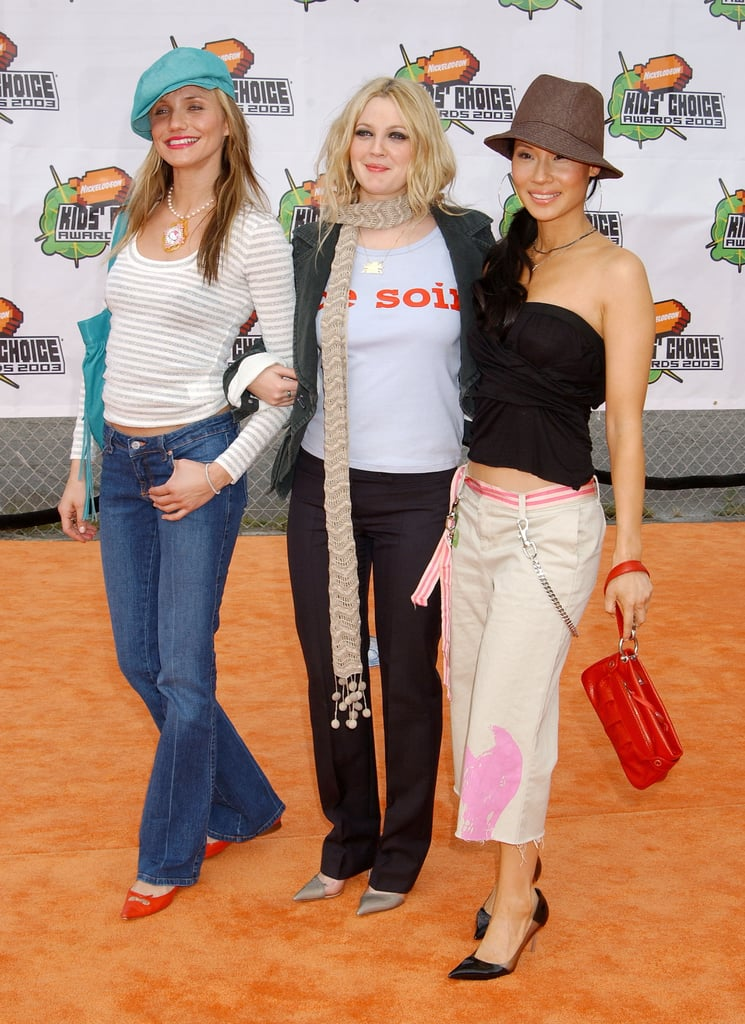 Charlie's Angels stars Cameron Diaz, Drew Barrymore, and Lucy Liu all took on a unique brand of laid-back styling for the 2003 awards.