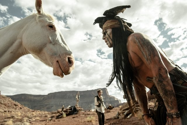 Armie Hammer and Johnny Depp in The Lone Ranger.