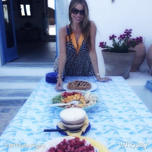 Sofia Vergara let herself indulge a little while vacationing in Greece. Source: Sofia Vergara on WhoSay