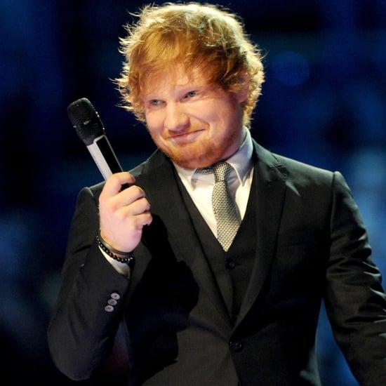 Ed Sheeran and Ruby Rose at the MTV EMAs 2015