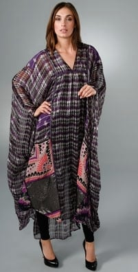 Love It or Hate It? Anna Sui Mixed Prints V-Neck Caftan
