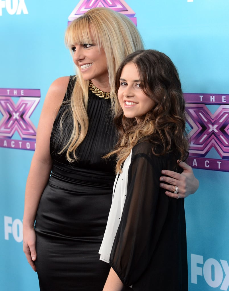 Britney Spears posed with her singer, Carly Rose Sonenclar.