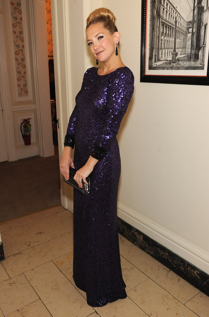 Kate Hudson looked gorgeous in purple at the event.