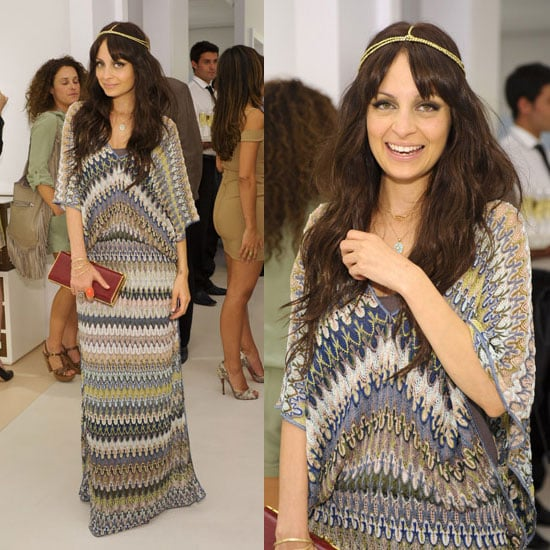 Nicole Richie in Missoni Maxi Dress at Derek Blasberg Book Launch