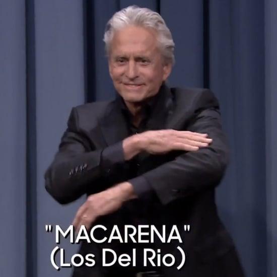 Video of Michael Douglas Doing Macarena on Jimmy Fallon Show