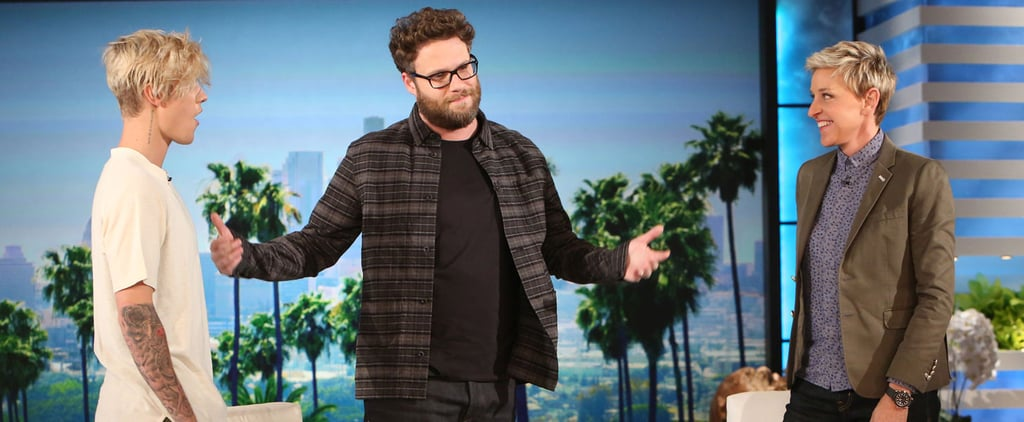 """Seth Rogen Comes Face to Face With Justin Bieber After Their """"Beef"""""""