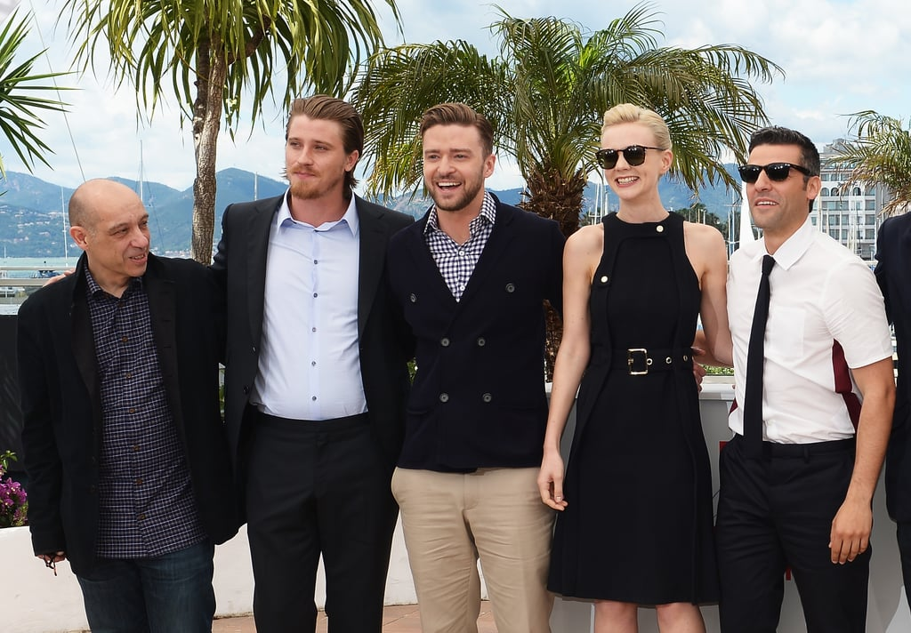 Justin Timberlake joined his Inside Llewyn Davis costars Carey Mulligan and Garrett Hedlund for the photocall at the Cannes Film Festival in May 2013.