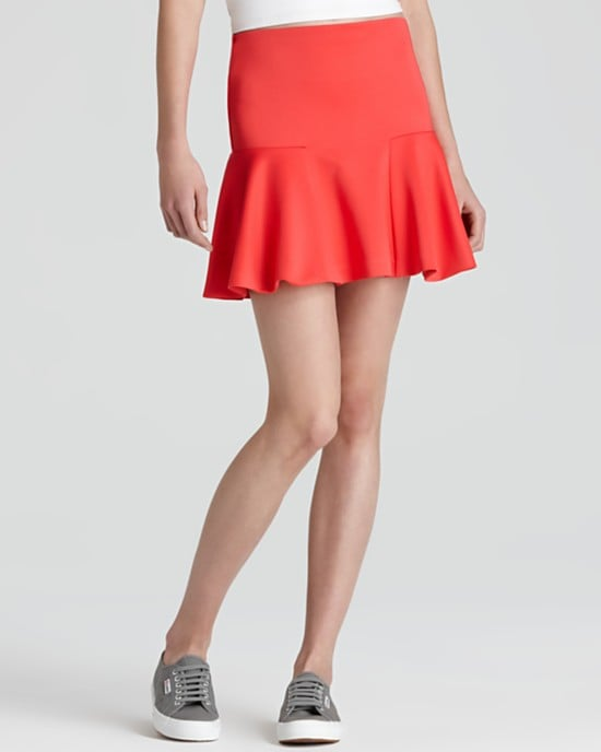 Channel Spring's hottest color combo by pairing this bold Aqua sport skirt ($68) with a crisp white shirt for high-contrast appeal.