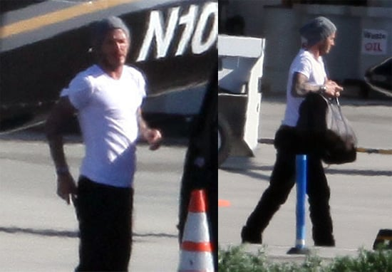 Photos of David Beckham in LA