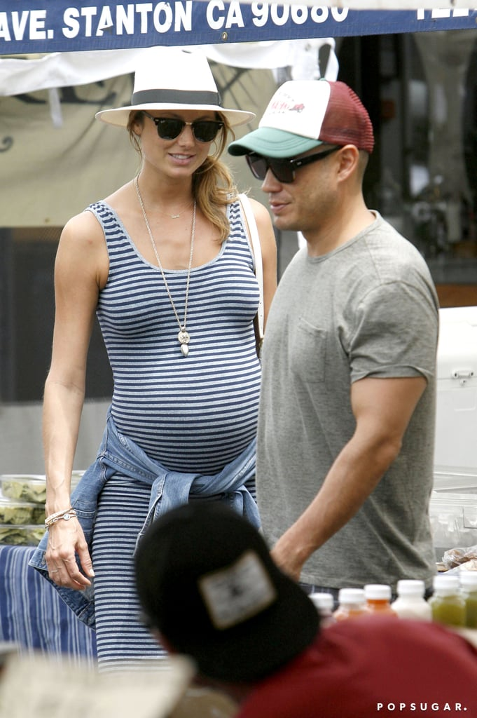 Stacy Keibler Flaunts Her Growing Baby Bump and Pregnancy Glow