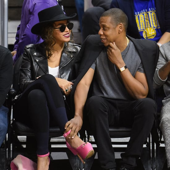 Jay Z and Beyonce at LA Clippers Game February 2016