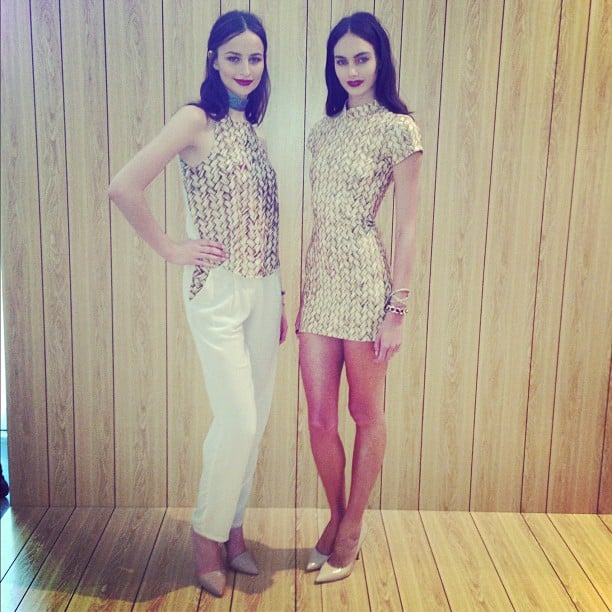 Maurie & Eve models showcased some of the autumn/winter 2013 collection. We like what we see!