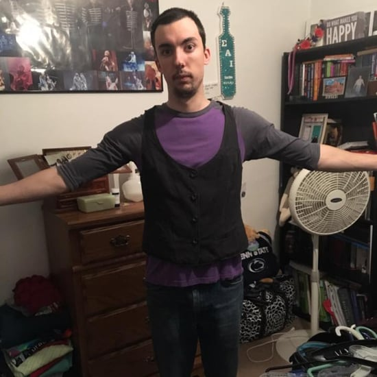 Guy Wears Girlfriend's Clothes to Call Out Body Shaming