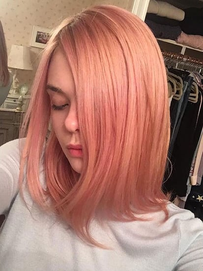 Elle Fanning Looks Pretty in Pink (Hair)