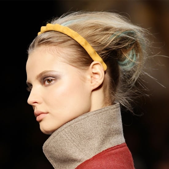 Fendi Models Wear Streaked Hair and Colourful Headbands at 2011 Fall Milan Fashion Week