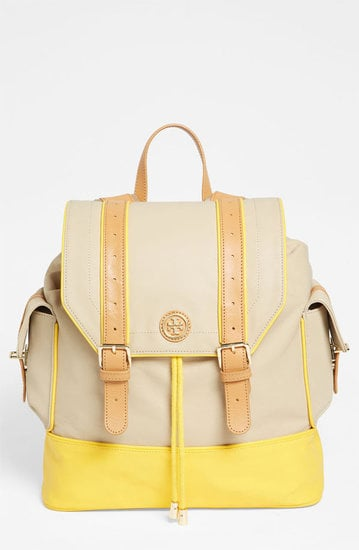 """The sweet pop of color on Tory Burch's Pierson Backpack ($365) just screams """"Spring."""""""