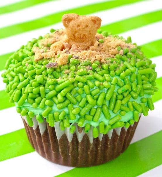 Green Groundhog Cupcakes