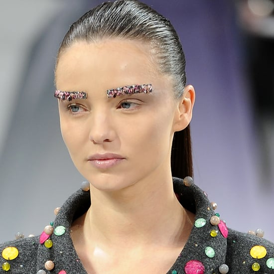 Chanel Fall 2012: Makeup and Jeweled Eyebrows