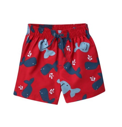 Gymboree's whale trunks ($13, originally $22) will keep him smiling all the way to the deep end.