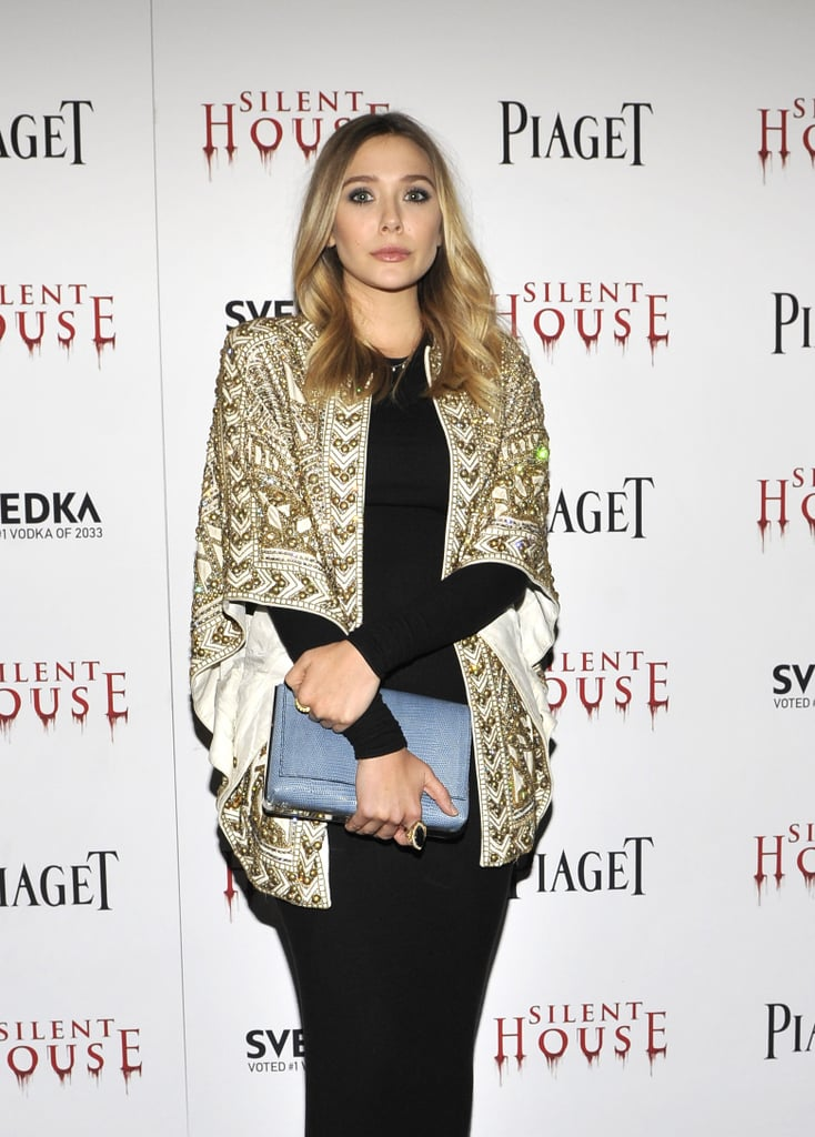 Elizabeth Olsen at the NYC Silent House premiere.