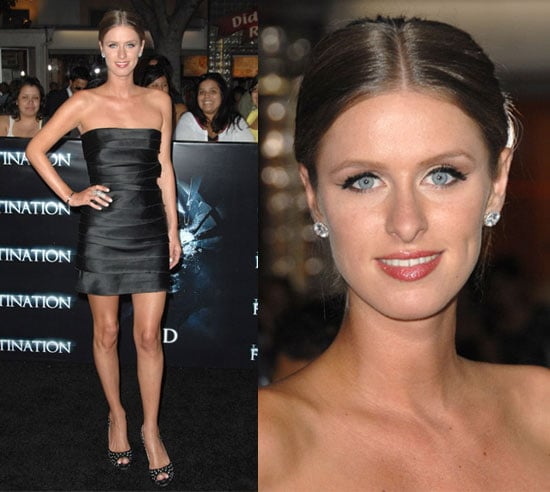 Nicky Hilton Wears a Satin LBD and Studded Christian Louboutins to Final Destination LA Premiere