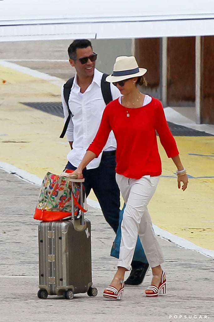 Jessica Alba and Cash Warren headed out of St. Barts.
