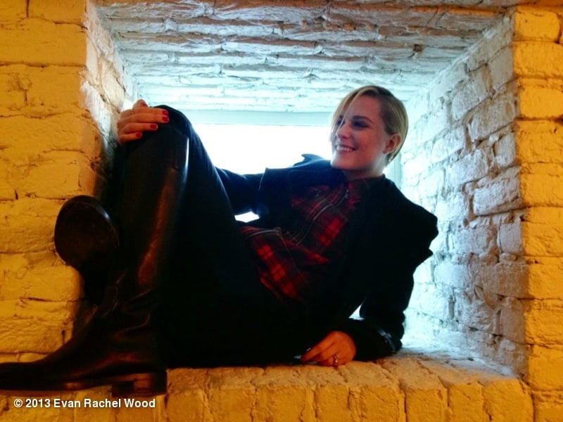 Evan Rachel Wood goofed around between interviews at the Sundance Film Festival. Source: Evan Rachel Wood on WhoSay