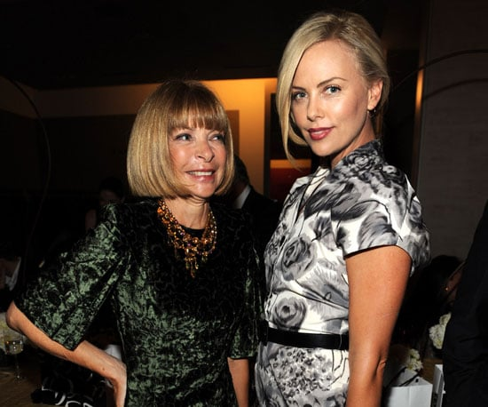 Slide Photo of Charlize Theron and Anna Wintour at Saks Event in NYC