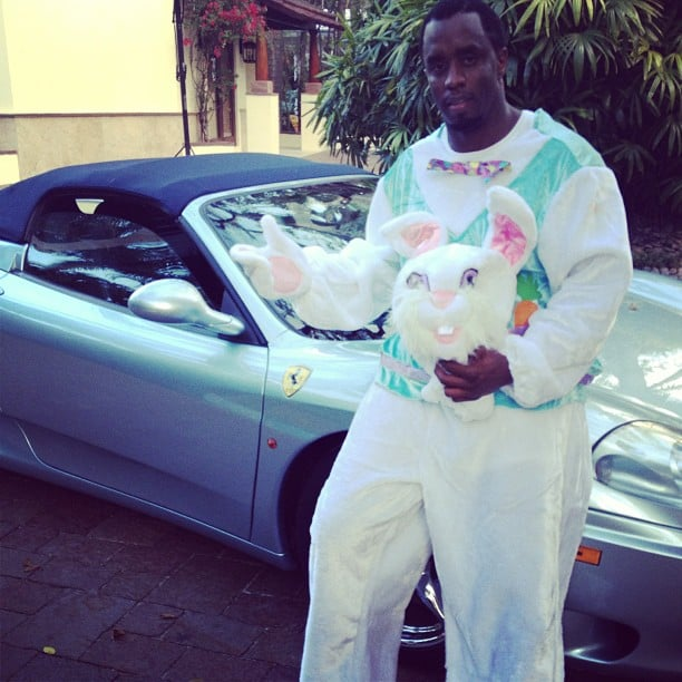Diddy dressed up as the Easter Bunny to entertain his kids. Source: Instagram user iamdiddy