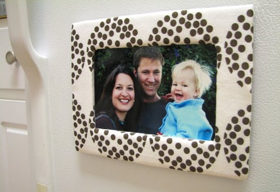 DIY: Cardboard and Fabric Magnetic Photo Frame