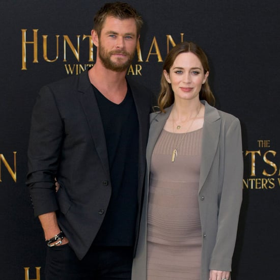 Emily Blunt and Chris Hemsworth on Red Carpet March 2016