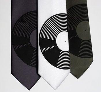 Vinyl Record Necktie